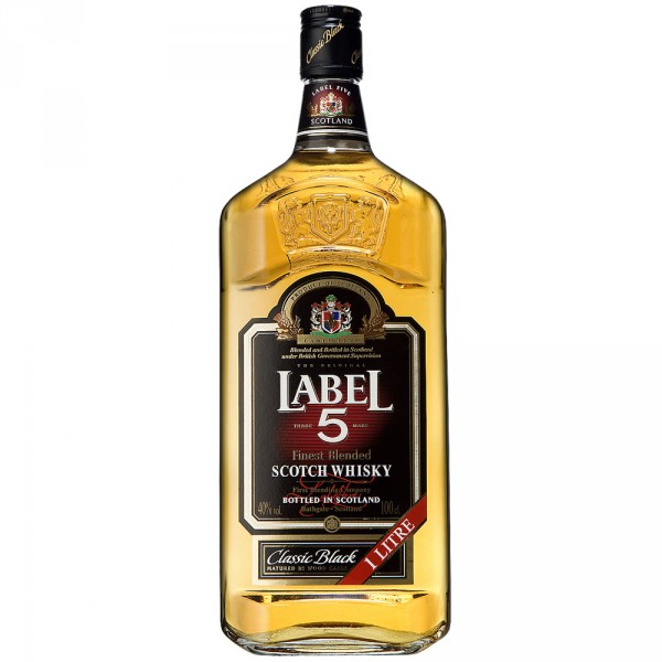 "Виски Finest Blended Scotch Whisky ""Label 5"" 1л"
