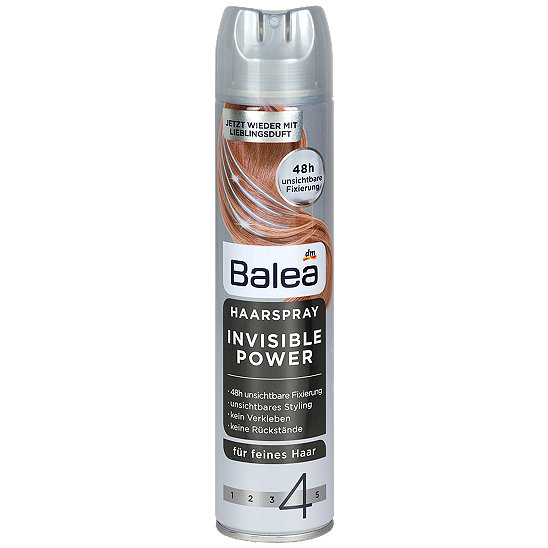 Balea Haarspray Invisible Power-Лак для волос 300 мл
