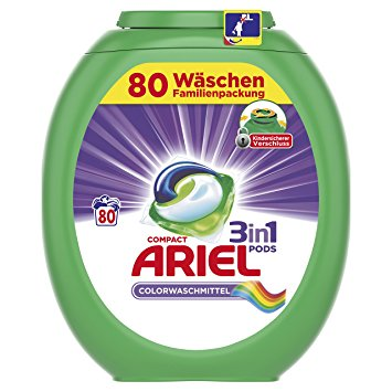 Капсулы для стирки Ariel 3 in 1 color 80 шт. Германия