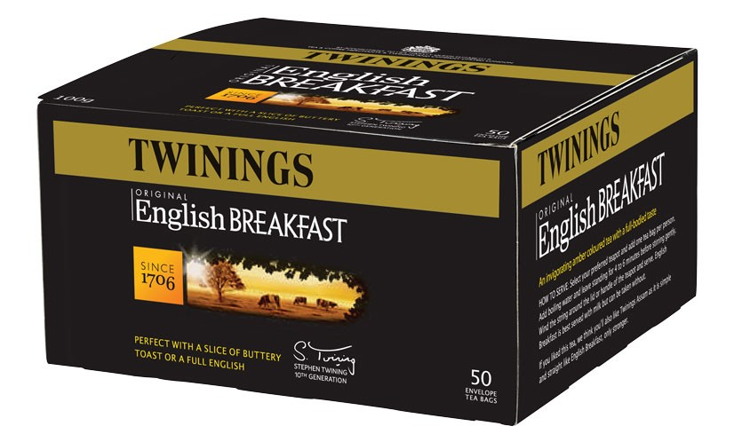 Twinings English breakfast tea 50 пакетиков
