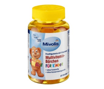 Mivolis Multivitamin-Bärchen fur kinder 60шт Витамины для детей